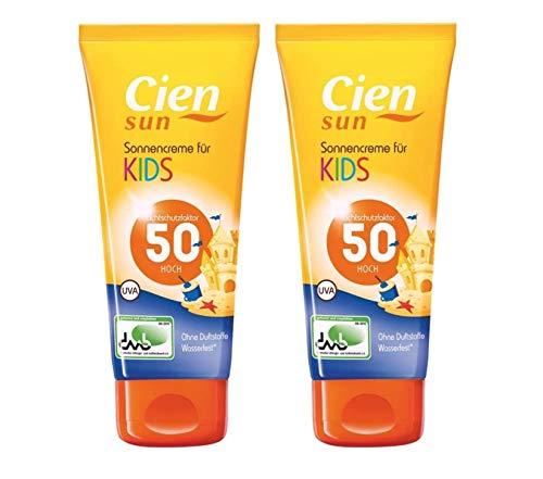CIEN sun Sonnencreme für Kinder LSF 50+, 2 x 100 ml