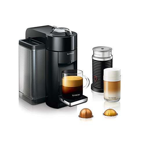 Nespresso Vertuo Evoluo Coffee and Espresso Machine with Aeroccino by DeLonghi, Black (Renewed)
