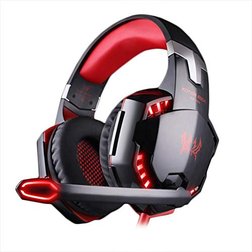 Mazu Homee PS4 game headphones, heavy bass tie microphone noise game headphones, music glowing, 3.5mm jack, suitable for PC laptop tablet Mac smartphone