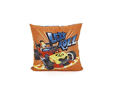 ARDITEX Mickey Mouse Coussin Réversible, Polyester, Multicolore, 35 x 10 x 35 cm