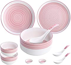 Falpro 10 Pieces Ceramic Dinnerware Set Nordic Style Plates Bowls Spoons Tableware Set
