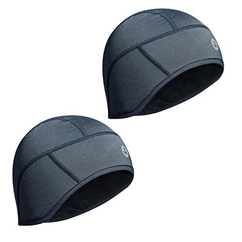 Empirelion helm liner schedel cap beanie in 6-paneel, winter thermische hardloophoeden met volledige oor Covers en prestaties vochtafdrijven