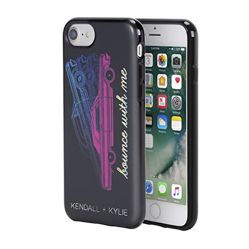 KENDALL + KYLIE Protective Printed Case for iPhone 8, iPhone 7 & iPhone 6/6s - Bounce with Me Matte Black/Metallic Foil/Pink Foil/Multi