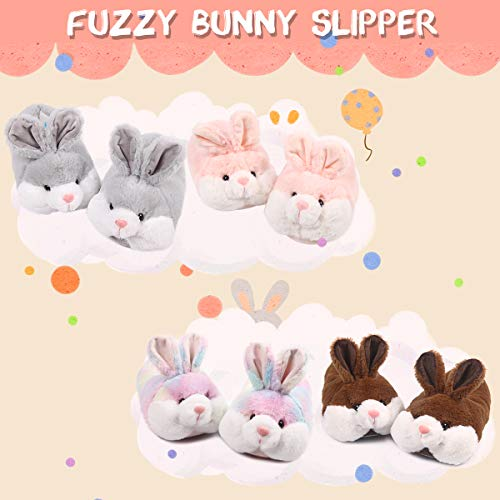 Product Image 3: Caramella Bubble Classic Bunny Slippers Cute Plush Animal Rabbit Slippers Christmas Slippers for Women Grey