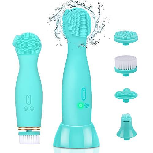 LORDSON 5 En 1 Cepillo Limpiador Facial Electrico, Recargable Silicona Rotación de...