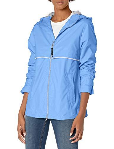 Charles River Apparel Women's New Englander Waterproof Rain Jacket, Periwinkle, M