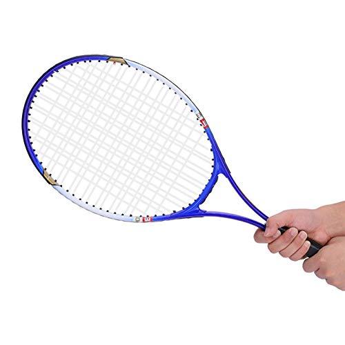 Raquetas De Tenis Para Adultos, Paquete De 2, Raqueta De Tenis De Aleación De Aluminio De Alta Elasticidad, Raqueta De Tenis Para Principiantes Antioxidante, Accesorio Para Principiantes(azul)