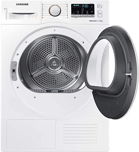 Samsung DV70M50201W Asciugatrice 7 kg, 60 x 60 x 85 cm, Bianco con Oblò Bianco