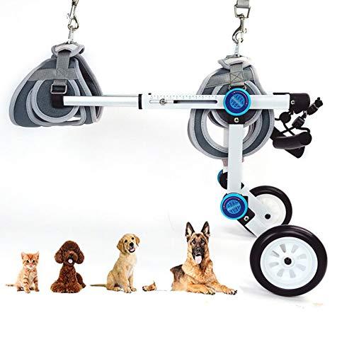 DHHVIC Verstellbarer Hunderollstuhl, Universeller Hinterbein-Hunde-Roller, Tier-Rollstuhl, Rollstuhl-Rehabilitationsstuhl Für Behinderte,Xs widening
