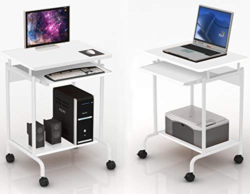 Techly 105926 Scrivania per Computer ''Compact'' Bianco Bianco