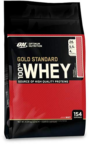 Optimum Nutrition 100% Whey Gold Standard, 10 lbs (Delicious Strawberry)