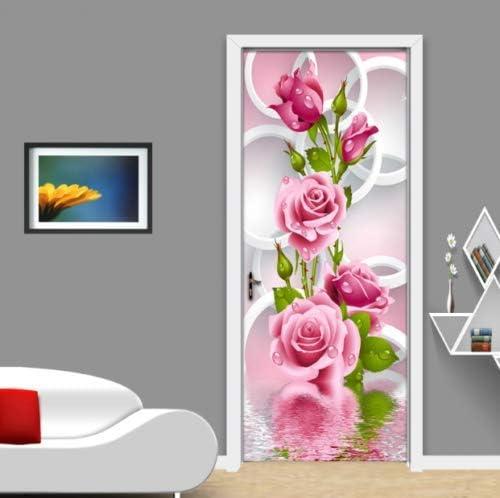 AJ Wallpaper US Lemon Self-Adhesive 3D Door Wall Mural 3D Flowers D413 Door Wall Mural Photo Wall Sticker Decal Wall