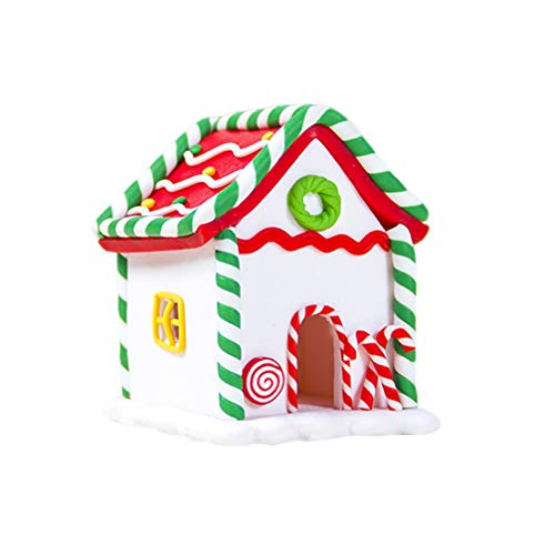 VALICLUD Navidad Pan de Jengibre Casa de Dulces Resina Escena Navideña Casas de Pueblo Masa de Arcilla Adornos Navideños
