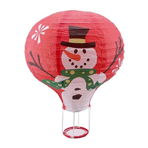 JOYfree Hot Air Balloon Deko-Laterne, faltbar, Papier, Laternen zum Aufhängen, Weihnachtsmann, Weihnachten, Geburtstag, Hochzeit, Party, Dekoration, Geschenke, Papier, Vieil Homme Rouge, Größe