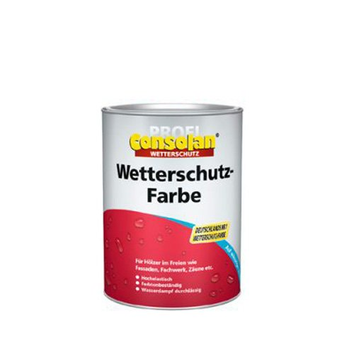 Consolan Wetterschutzfarbe 750ml Schwedenrot