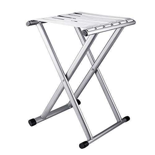 Folding Camp Stool 17.9in Height Comfortable foldable