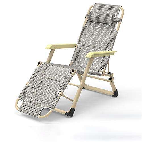 Chaises de Patio inclinables Zero Gravity Verrouillage Lounge Chair inclinable for extérieur Plage Patio Piscine (Couleur, Size : One Size)