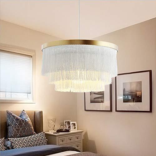 XLTT Araña Blanca con Flecos Nordic Lámpara Colgante Lámpara De Techo Sala De Estar Dormitorio Princesa Habitación 42 * 42 * 23 Cm Tela Decoración Cálida Personalidad De Lujo