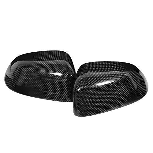 Oumefar Rückspiegelgehäuse Leichtes, überlegenes, langlebiges Rückspiegelgehäuse Flügelspiegelkappe für Autozubehör für Kohlefaser