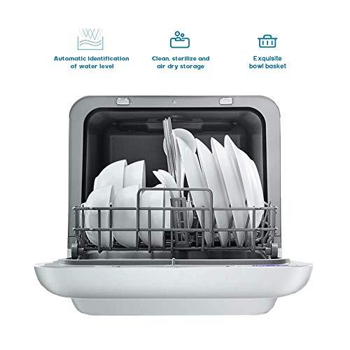 YFDD Geschirrspüler, Einbauschränke Desktop-Smart-Geschirrspüler mit großer Kapazität und leistungsstarker Dekontamination 220v Weiß aijia