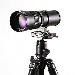 Hersmay 420-800mm f/8.3-16 Super Tele Zoom Objektiv Teleobjektiv Zoomobjektiv Vario-Objektiv für Canon EOS 1300D, 60D, 70D, 1200D, 1100D, 1000D, 760D, 750D, 700D, 650D, 600D, 550D 500D DSLR/SLR Kamera