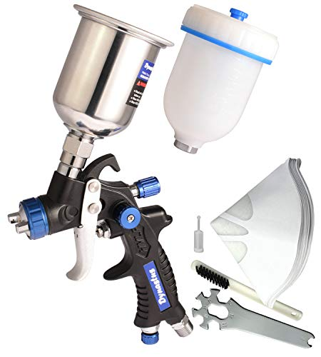 Dynastus Touch Up Composite HVLP Air Spray Gun Auto Car Detail Paint Sprayer Spot Repair, with Filtering and Protective Kits