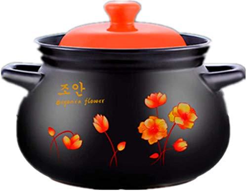 JFZCBXD Pote de cerámica Cerámica Pote Redondo, Olla de Terracota/Olla de Terracota/macetas de cerámica Caja de Regalo Resistente al Calor Familia Esencial 2021