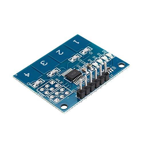 Condensadores TTP224 4CH Canal táctil capacitiva Interruptor 20pcs de módulo de Sensor táctil Digital