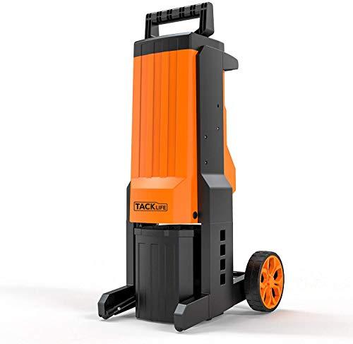 Powerful Electric Garden Shredder, 2500 Watt Powered Motor, 40 mm Cutting Diameter, Interchangeable...
