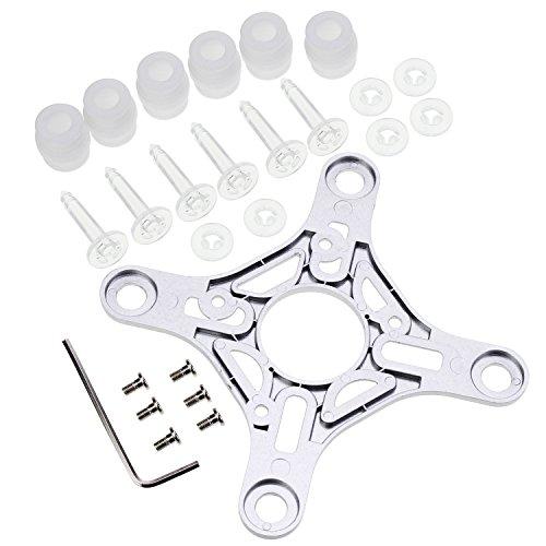 KEESIN Gimbal - Placa de montaje de bola de amortiguación de goma, color blanco, antivibración, elástica, amortiguador, bolas anticaídas, kit de pines para DJI Phantom3 estándar