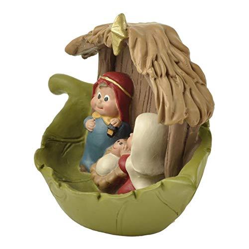 Fenteer Figuras de Estatua de Resina de La Natividad de La Sagrada Familia, Decoración de Casa de Muñecas con El Bebé Jesús, Regalos