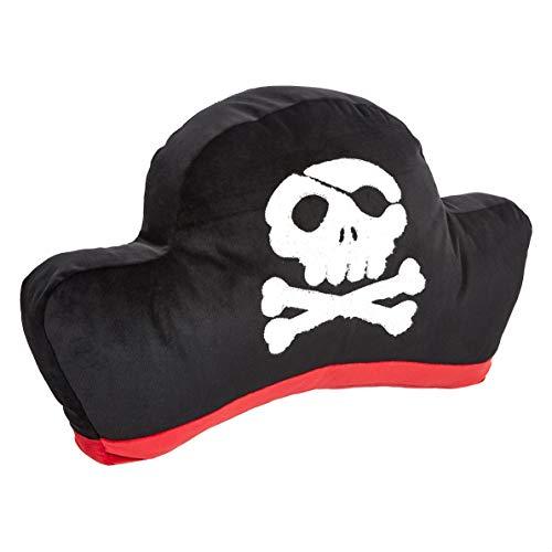 Amazon Basics - Cojín decorativo, sombrero pirata, 48 x 25cm
