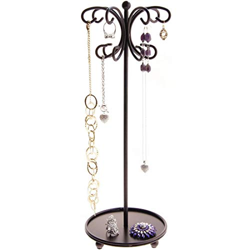 Necklace Holder Tree Stand Jewelry Organizer Tree Display Case Bracelet Rack Long Necklace Pendant Tall Storage Ava Rubbed Bronze