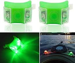 Botepon 2Pcs Boat Kayak Battery Navigation Lights Safety Lights Boat Bow Lights Stern Lights Bike Lights Pet Lights Night Running Lights with 3 Modes (Green)