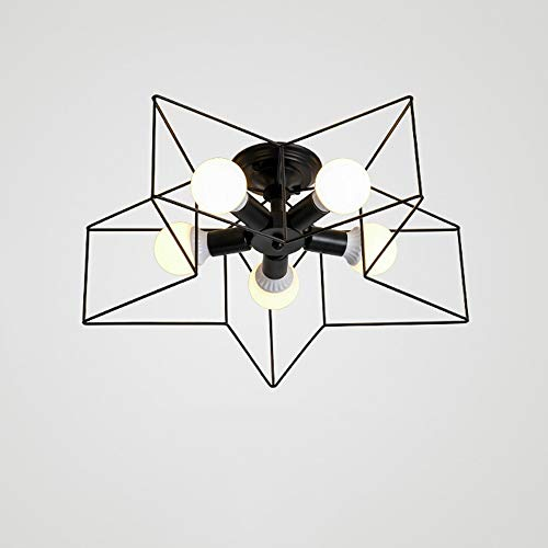 Nordic Moderne 5LED plafondlamp, zwart/blauw/grijs/groen/goud/roze/wit/geel verlichting decoratieve kroonluchter slaapkamer cartoon-plafondlamp