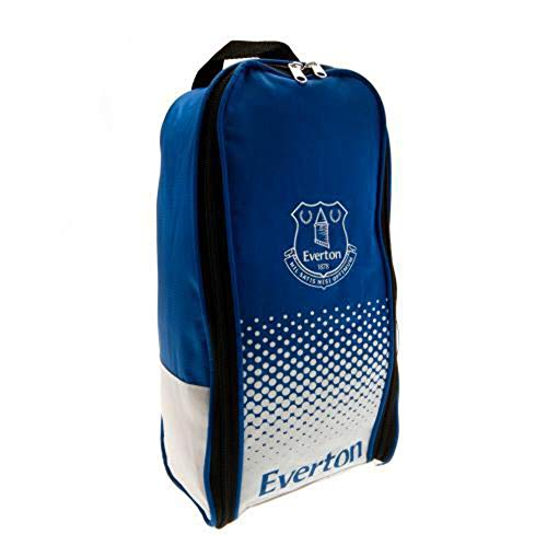 Everton F.C. Everton Official Football Team Boot Shoe Zip Bag with Handle, One Size, Blue White