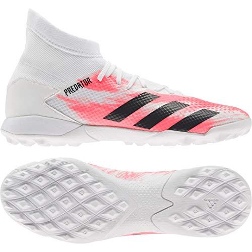 adidas Predator 20.2 FG, Botas de fútbol. para Hombre, Wei Xdf-Corail Vif, Color Negro, 42 2/3 EU