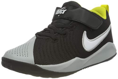 Nike Team Hustle Quick 2 (PS), Scarpe da Basket, Black/White-lt Smoke Grey-High Voltage, 32 EU