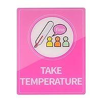 EXCEART 公共の壁のステッカー着用フェイスカバー通知サイン公共の場所のアクリル通知警告ステッカー(温度サインを取る)