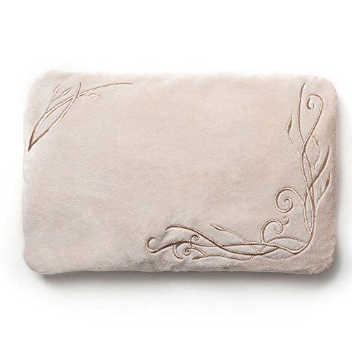 Grünspecht 186-10 Cuscino termico con imbottitura con semi di Uva per schiena e pancia, floreale, Beige (beige)