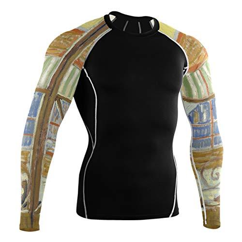 Fantazio Van Gogh Butcher's Shop T-shirt à manches longues pour vélo de montagne et vélo de route - - M