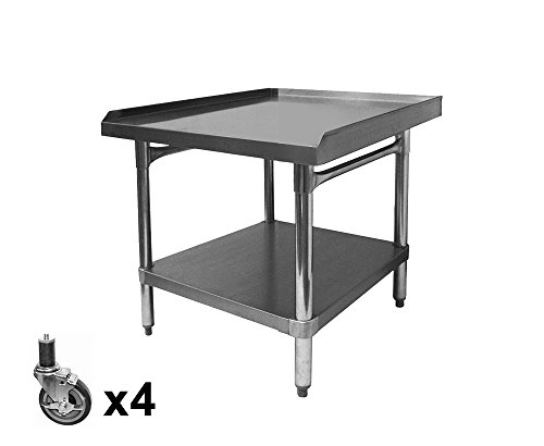 "ACE All Galvanized Equipment Stand with Set of Four 4"" Stem Casters. (ETL Certified) Size:30"" W x 24-1/2""L x 27"" H, Model#ES-E3024+KS4113"