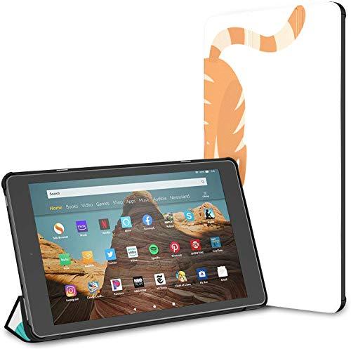 Hülle für niedliches Katzenspiel Strickgarn Ball Fire HD 10 Tablet (9./7. Generation, Release 2019/2017) Hülle HD Fire 10 Kindle 10 Fire Tablette Hülle Auto Wake/Sleep für 10,1-Zoll-Tablette