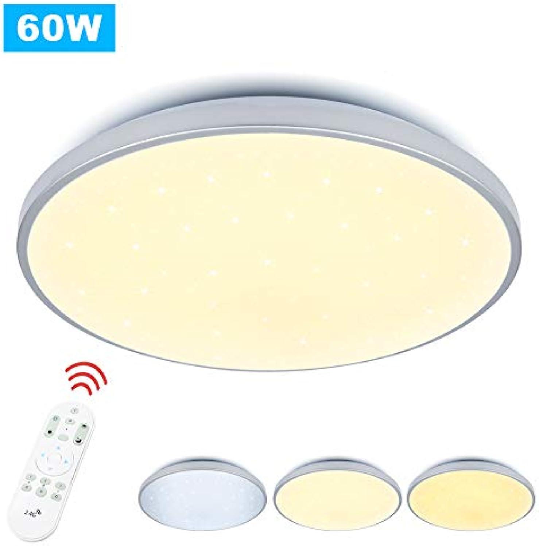 VGO 60W LED Deckenleuchte stufenlos dimmbar Wohnzimmerlampe Badleuchte Küchenleuchte Sternenhimmel Innenleuchte Wandleuchte Wohnzimmer Badezimmer Schlafzimmer Schlafzimmerleuchte Energiespar