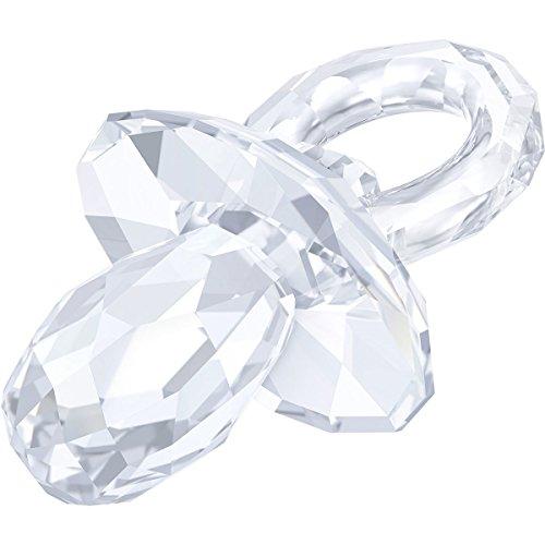 Swarovski fopspeen kristal, transparant, grootte: 2.9 x 2 x 1.7 cm