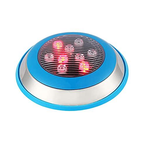GHHZZQ Luces LED para Piscinas Acero Inoxidable Luces Sumergibles AC 12V IP68 A Prueba de Agua Luces Subacuáticas para Estanque/Piscina/Pecera (Color : 3-Yellow, Size : 9w)