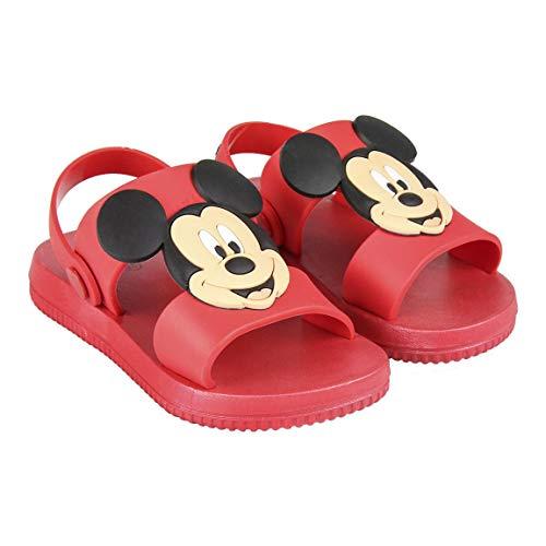 Sandales pour Enfants Mickey | Semelle crantée antidérapante | Motif Personnage en Caoutchouc 3D (Numeric_27)