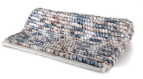 Spirella Badteppich Badematte Duschvorleger Mikrofaser Hochflor | flauschig | rutschhemmend | geeignet für Fußbodenheizung | 55x65 cm | Berry