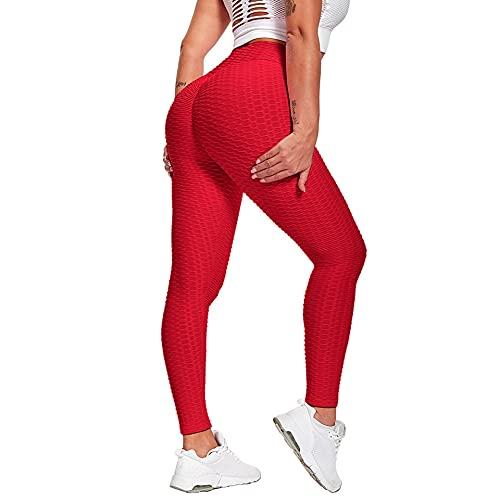 QTJY Pantalones de Yoga sin Costuras de Cintura Alta para Mujer, Mallas de Gimnasio, Pantalones de Fitness para Correr con Estiramiento de Cadera al Aire Libre DL
