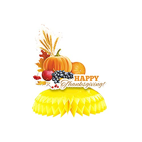 CHUXI 2021 Acción de Gracias Nido de abeja Decoraciones Calabaza Panal Papel Pavo Panal Decoración de Mesa Otoño Tema Fiesta Suministros